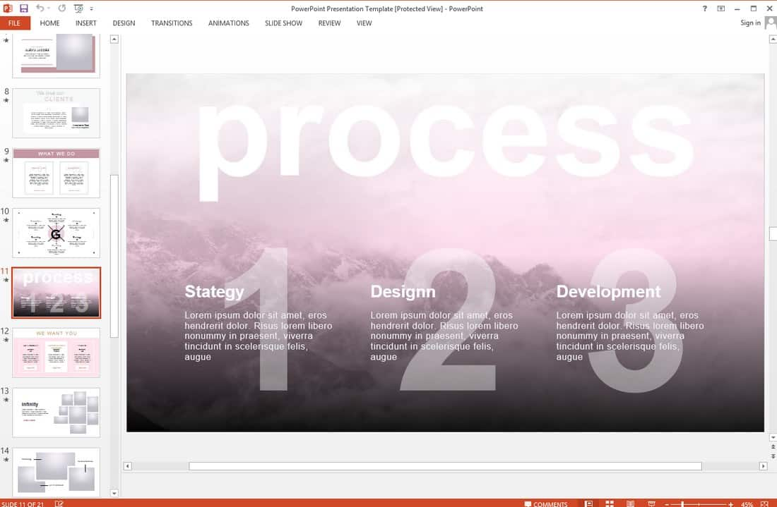 232482f7e862450ddb0b36553caabbc4 10 Professional PowerPoint Templates (And How to Use Them) design tips