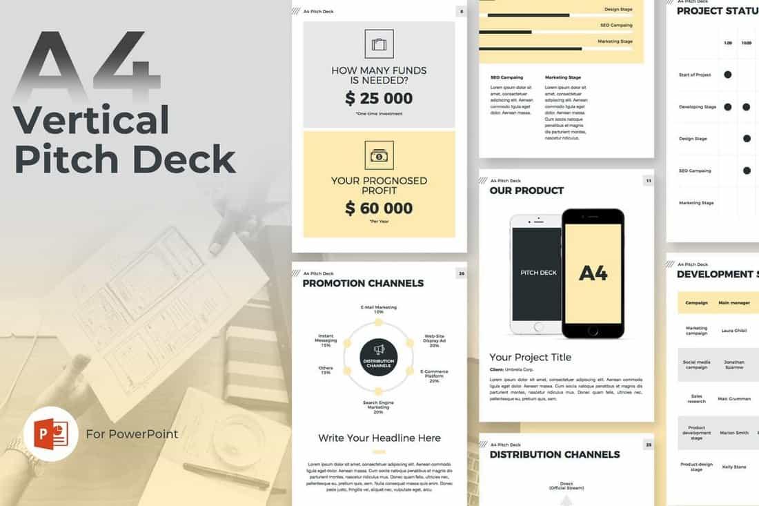 593d3f6b8d0474b7203306de888d9404 20+ Best Startup Pitch Deck Templates for PowerPoint design tips