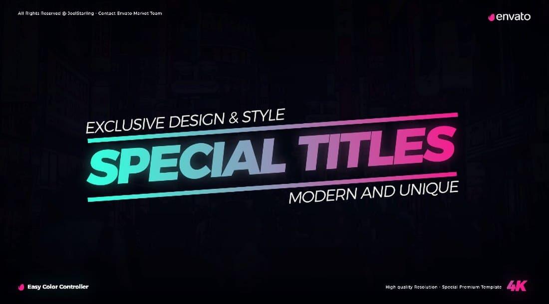 910438a10b45b05f6b75741261ca2197 20+ Best Premiere Pro Animated Title Templates design tips