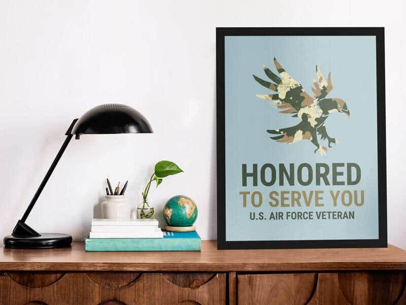 mockup-template-of-a-poster-standing-on-a-wooden-desk Poster Mockup Template to Showcase Your Designs design tips  Poster Mockup