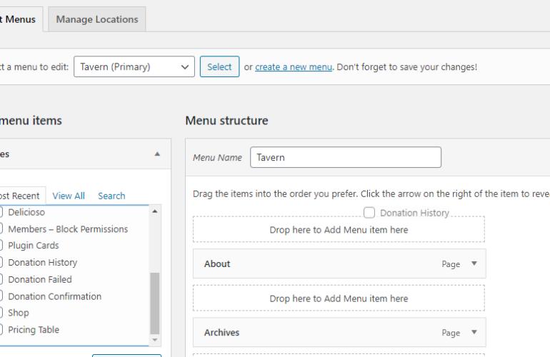 drag-drop-menus-770x500 Drag and Drop Nav Menu Items in WordPress design tips