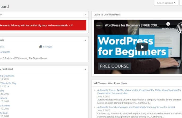 mission-ctrl-dashboard-770x500 Blockify the WordPress Dashboard with the Mission Ctrl Plugin design tips