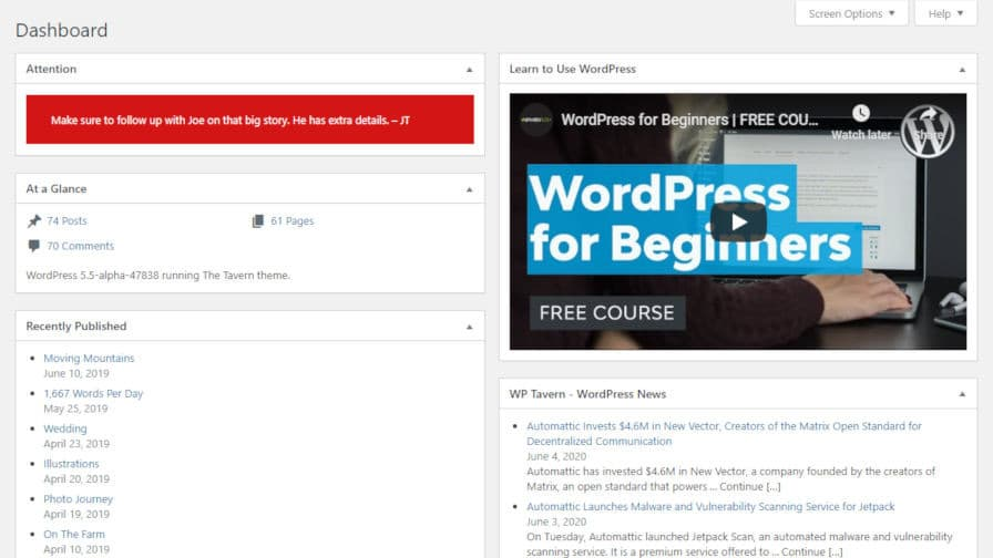 mission-ctrl-dashboard Blockify the WordPress Dashboard with the Mission Ctrl Plugin design tips