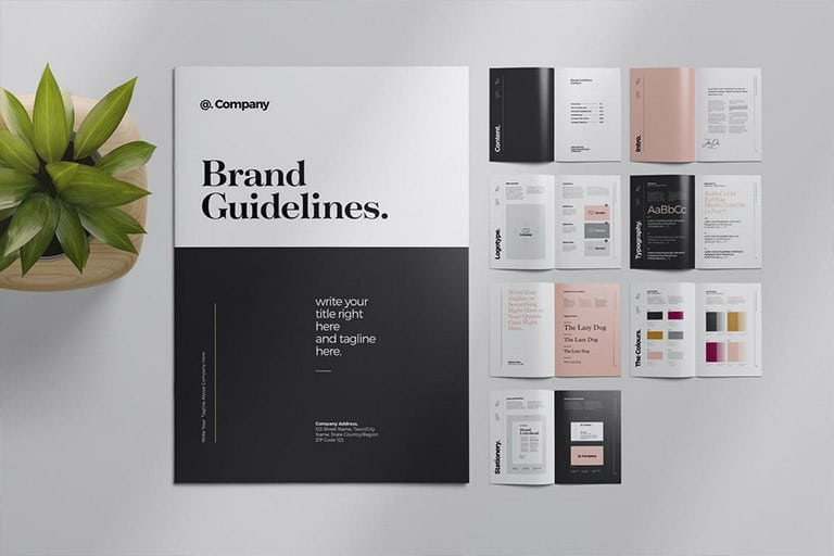 brand-style-guide-template 20+ Best Brand Manual & Style Guide Templates 2020 (Free + Premium) design tips