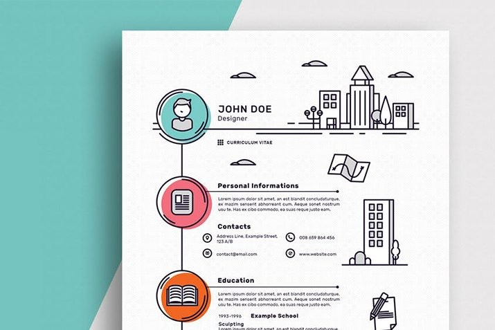 best-resume-cv-templates 50+ Best CV & Resume Templates 2020 design tips