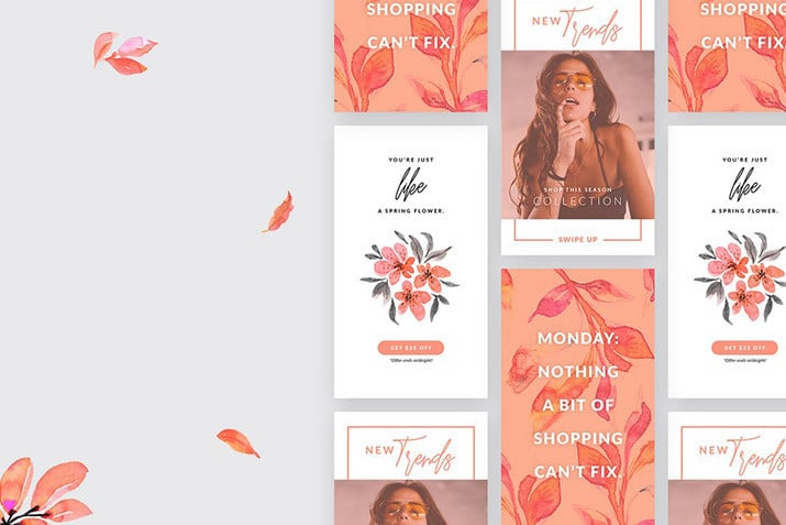 free-instagram-story-templates 20+ Best Free Instagram Story Templates 2020 design tips