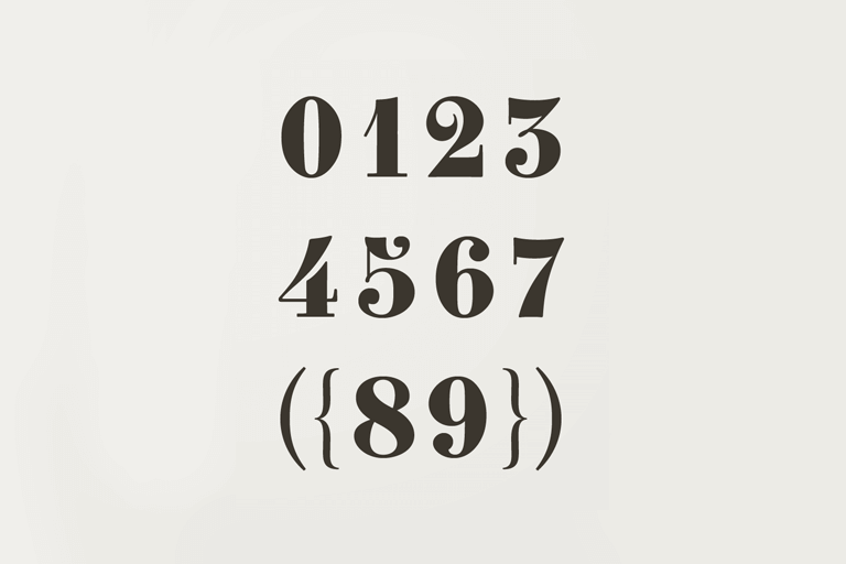 number-fonts 40+ Best Number Fonts for Displaying Numbers design tips