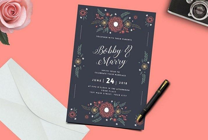 wedding-card-samples 50 Wonderful Wedding Invitation & Card Design Samples design tips