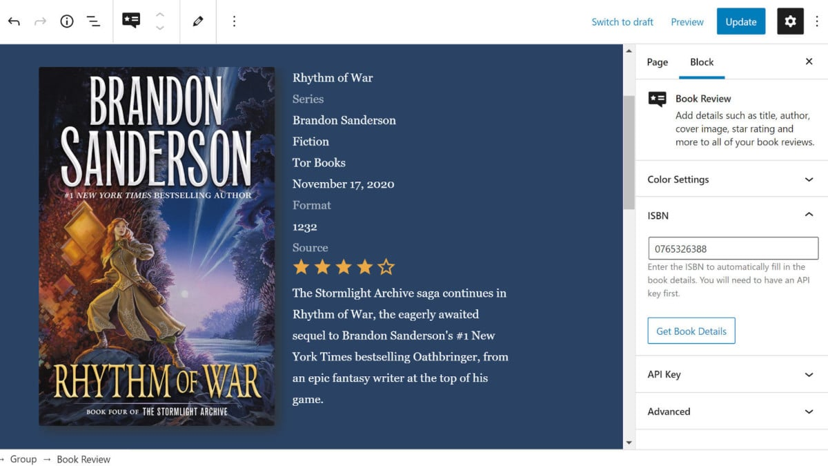 book-review-block-featured Diving Into the Book Review Block Plugin design tips