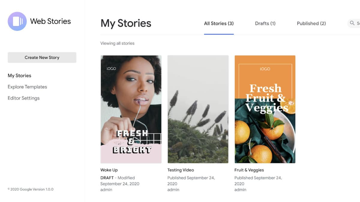 web-stories-dashboard Using the Web Stories for WordPress Plugin? You Better Play By Google's Rules design tips