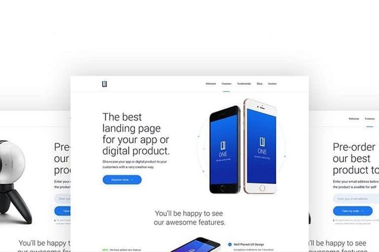 best-app-landing-page-templates 50+ Best App Landing Page Templates 2021 design tips