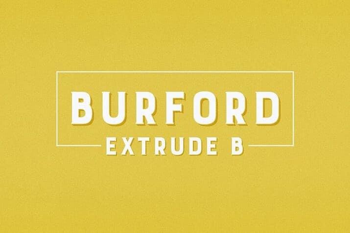 Burford-Extrude-1 60+ Best Big, Poster Fonts of 2021 design tips