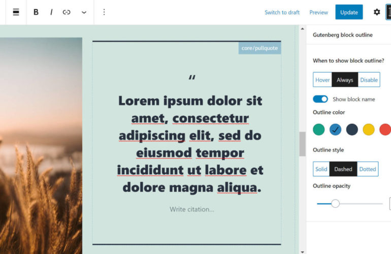 block-editor-outline-featured-770x500 Navigate the Content Canvas With the Block Editor Outline WordPress Plugin design tips