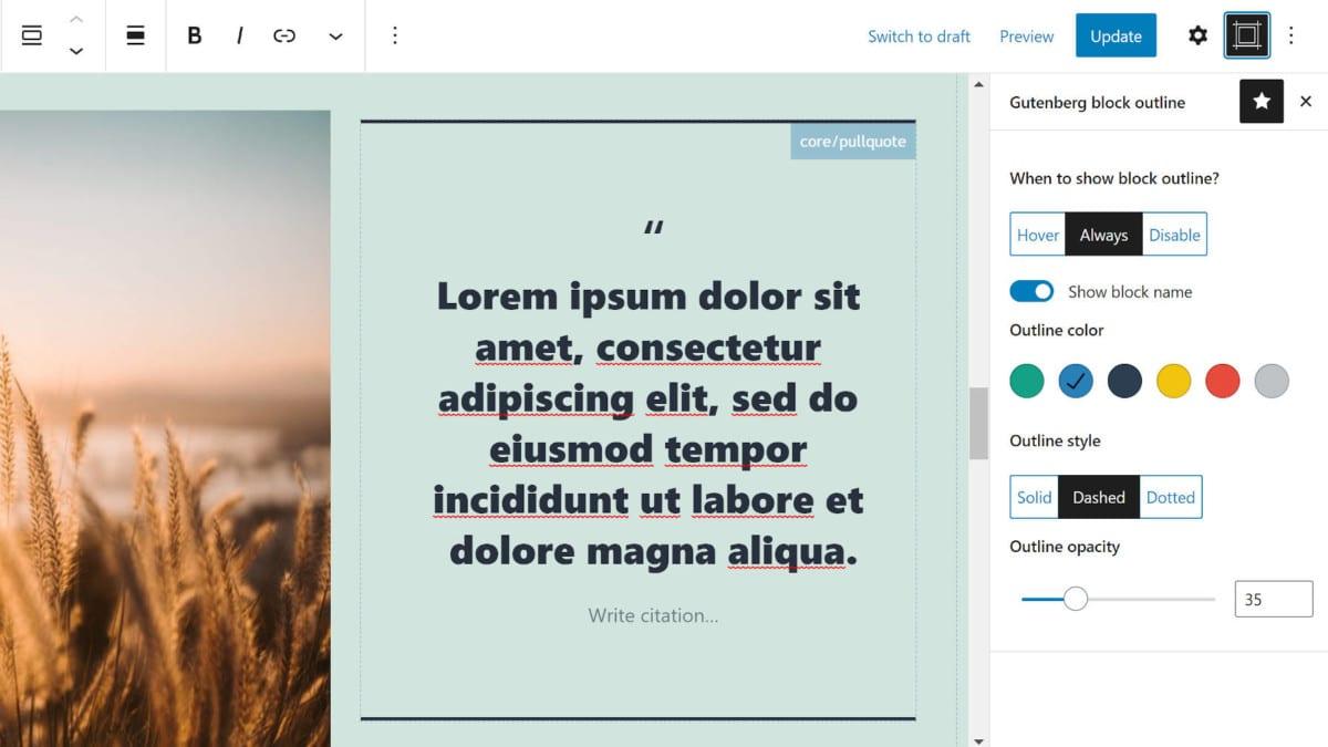 block-editor-outline-featured Navigate the Content Canvas With the Block Editor Outline WordPress Plugin design tips