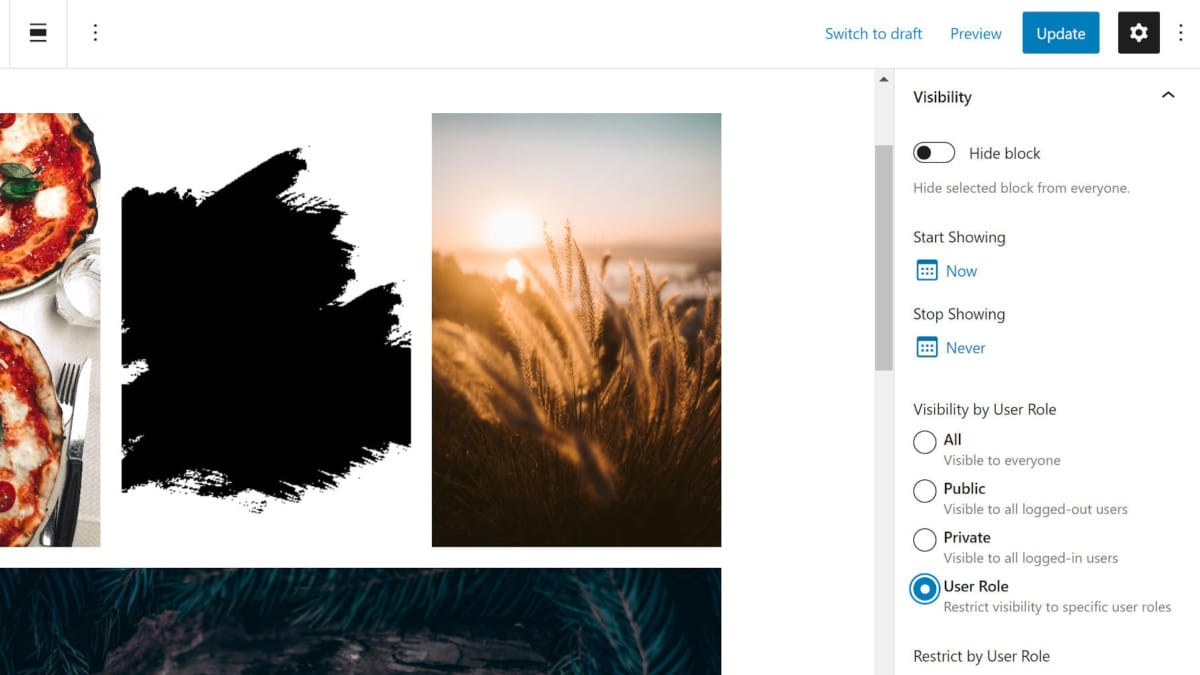 block-visibility Show and Hide Content via the Block Visibility WordPress Plugin design tips