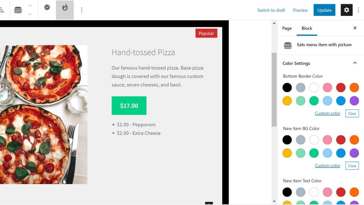 eatswp-featured EatsWP Brings Virtual Restaurant Menus to the WordPress Block Editor design tips