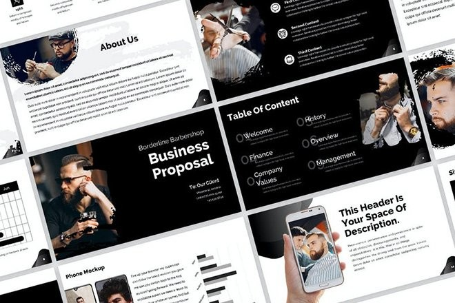 business-proposal-powerpoint-template 25+ Startup & Business Proposal PowerPoint Templates 2021 design tips