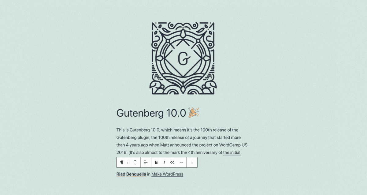 gutenberg_today_4 Reflecting on Gutenberg's 100th Release WPDev News