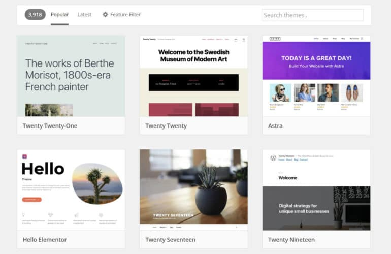 wordpress-popular-themes-1-770x500 Upsells, Barriers, and the End/Beginning of the Quality $free Themes Era design tips