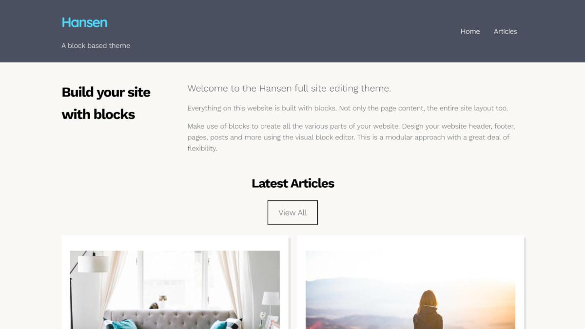 hansen-featured Build a Full WordPress Site via Block Patterns With the Hansen Theme design tips
