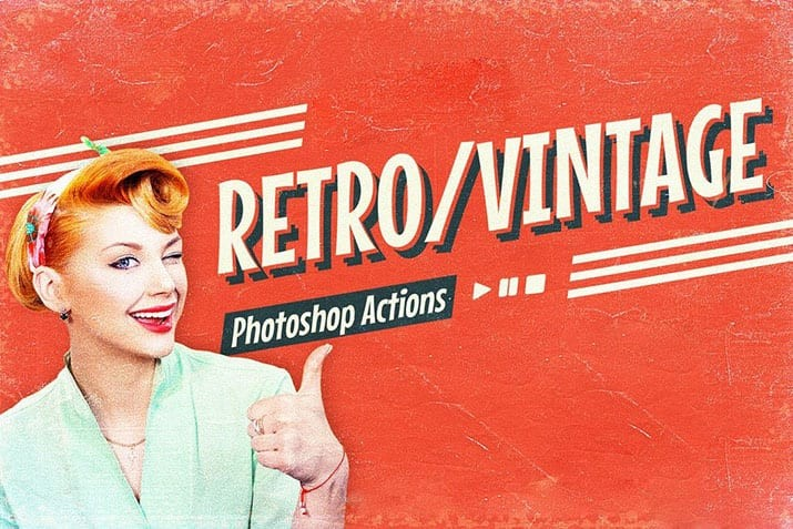 vintage-photoshop-actions 40+ Best Vintage & Retro Photoshop Actions & Effects design tips