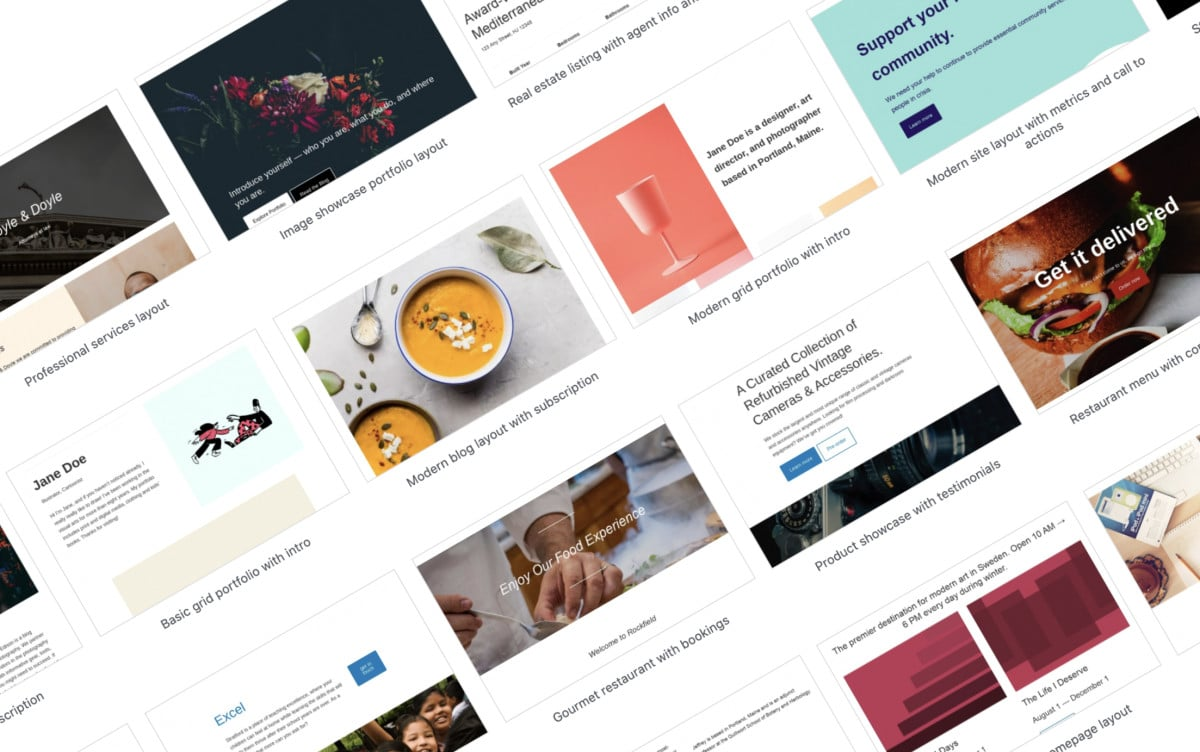 page_layout_selector What's New in the Block Editor: New Page Layout Picker, Better Block Transformation Options, and More WordPress