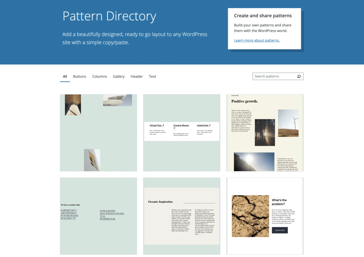 Screen-Shot-2021-04-28-at-3.03.14-PM Pattern Directory Targeted to Launch with WordPress 5.8 design tips