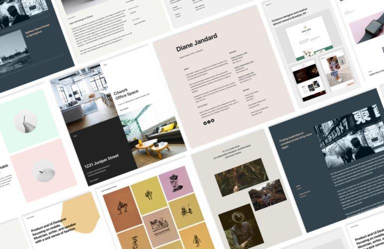 portfolio_patterns_collage-770x500 One-click Portfolio Designs, Instant PDF Embeds, and More Improvements to the Block Editor WordPress