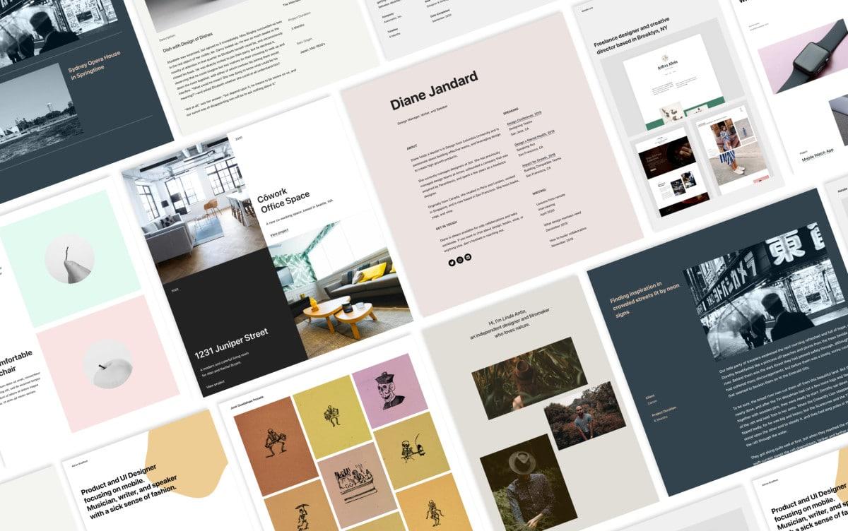 portfolio_patterns_collage One-click Portfolio Designs, Instant PDF Embeds, and More Improvements to the Block Editor WordPress
