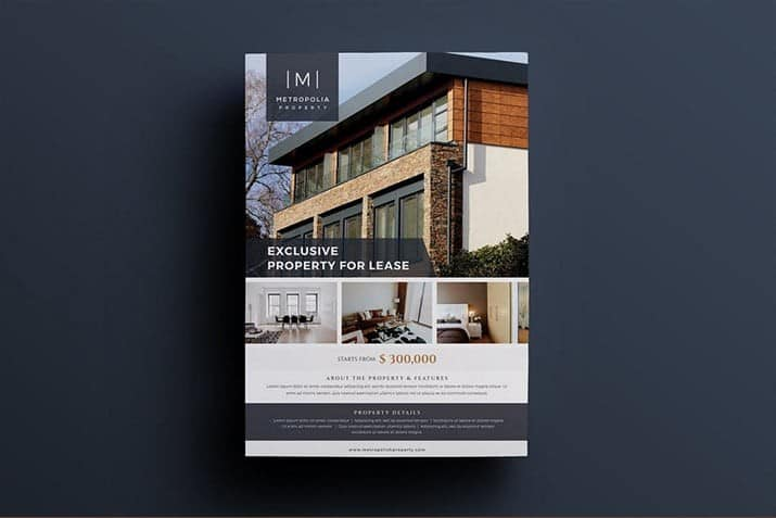 real-estate-flyer-templates 35+ Best Real Estate Flyer Templates 2021 design tips