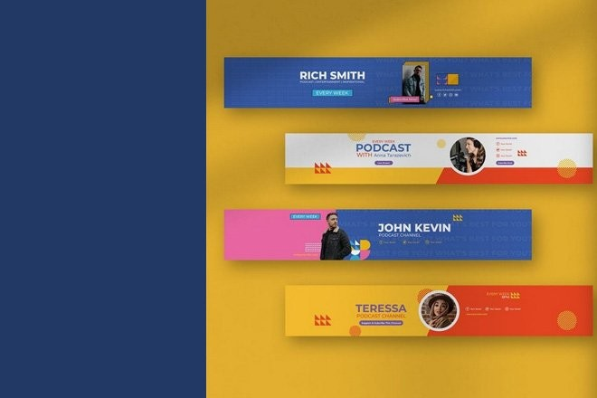 youtube-banner-templates 20+ Best YouTube Cover Art & Banner Templates (Free & Pro) design tips