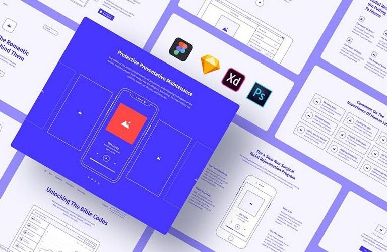 best-website-wireframe-template-768x500 30+ Website Wireframe Templates (For Sketch, Photoshop + More) design tips