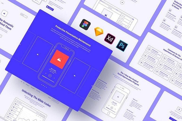 best-website-wireframe-template 30+ Website Wireframe Templates (For Sketch, Photoshop + More) design tips