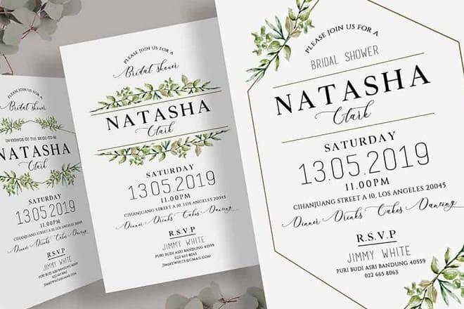 bridal-shower-invitation-templates 12+ Best Baby & Bridal Shower Invitation Templates design tips