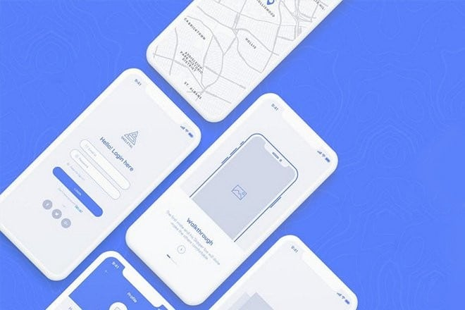 mobile-wireframe-template 30+ Mobile App Wireframe Templates: iPhone + Android design tips