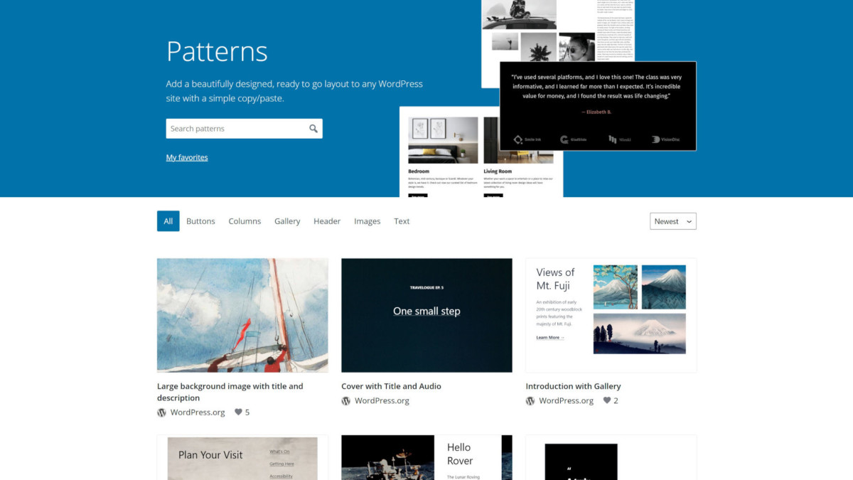 pattern-directory-featured The WordPress.org Block Pattern Directory Is Now Live design tips
