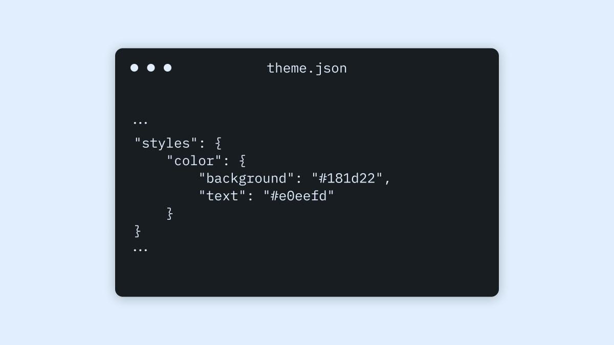 themejson-1 Configuring Theme Design with theme.json WPDev News
