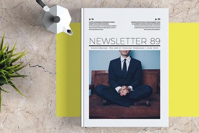 indesign-newsletter-templates 25+ Best InDesign Newsletter Templates (Free & Premium) design tips