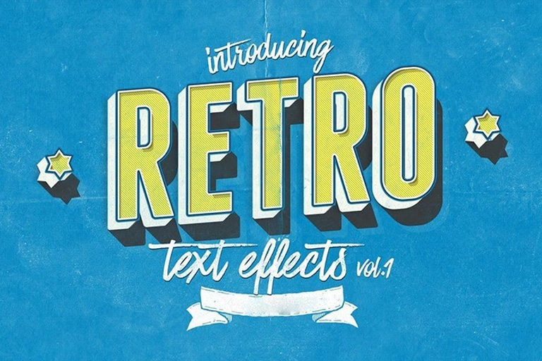 retro-text-effects 35+ Best Retro Text Effects & Styles design tips