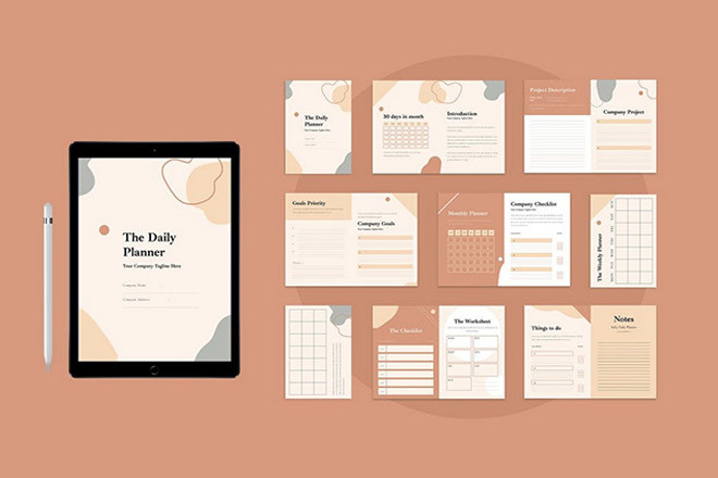 monthly-planner-template 20+ Best Meal & Workout Planner Templates 2021 design tips