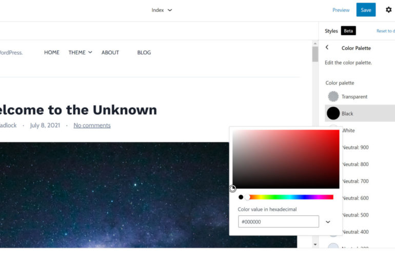 global-styles-color-palette-770x500 Gutenberg 11.7 Iterates on Global Styles, Improves Adding Navigation Links, and Adds Column Spacing design tips
