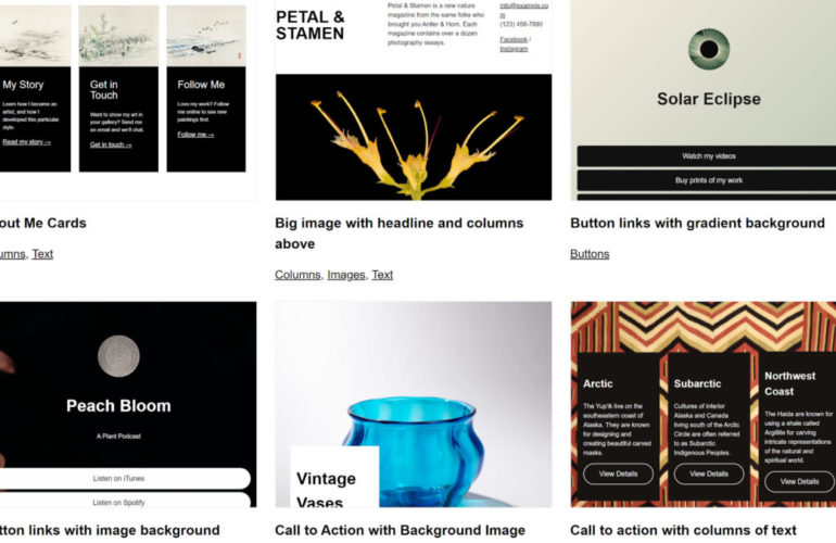 wp-block-patterns-featured-770x500 Preview WordPress Block Pattern and Theme Combinations via New Site design tips